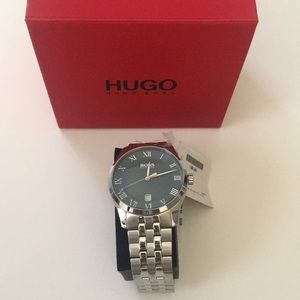 Men's Hugo Boss Watch Silver with Blue Face